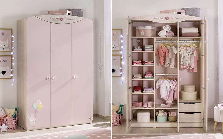 Ροζ βρεφικά έπιπλα-παστελ αποχρώσεις-συρταριερα