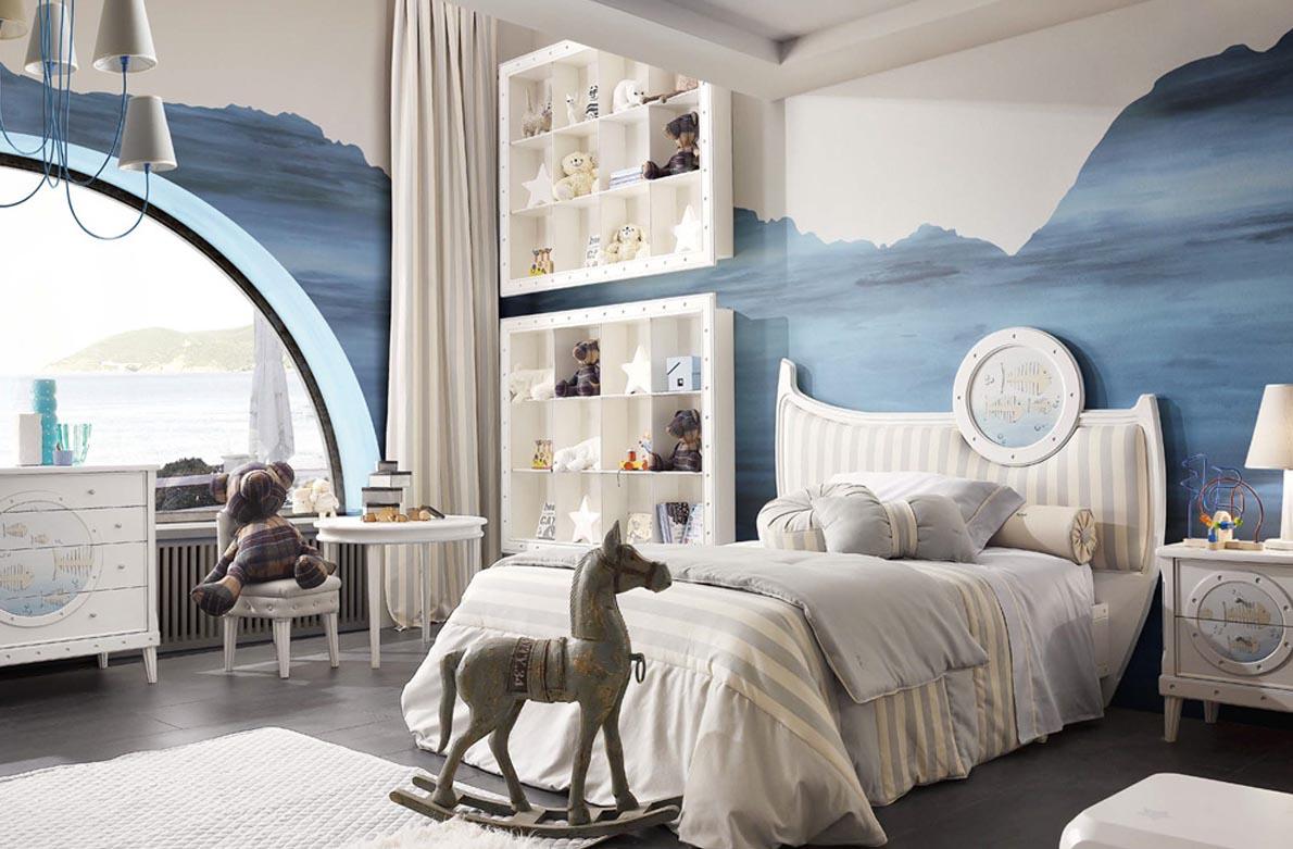 Παιδικό  δωμάτιο με θέμα τη θάλασσα