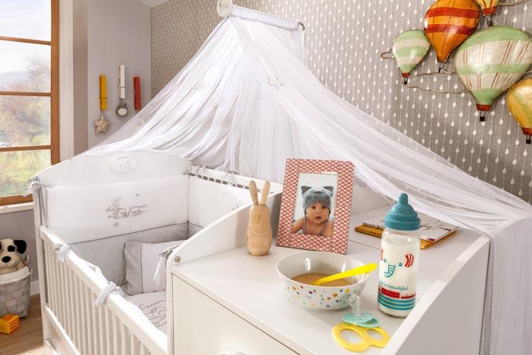 Μοντερνο βρεφικο δωμτιο-κουνια για μωρα λευκη