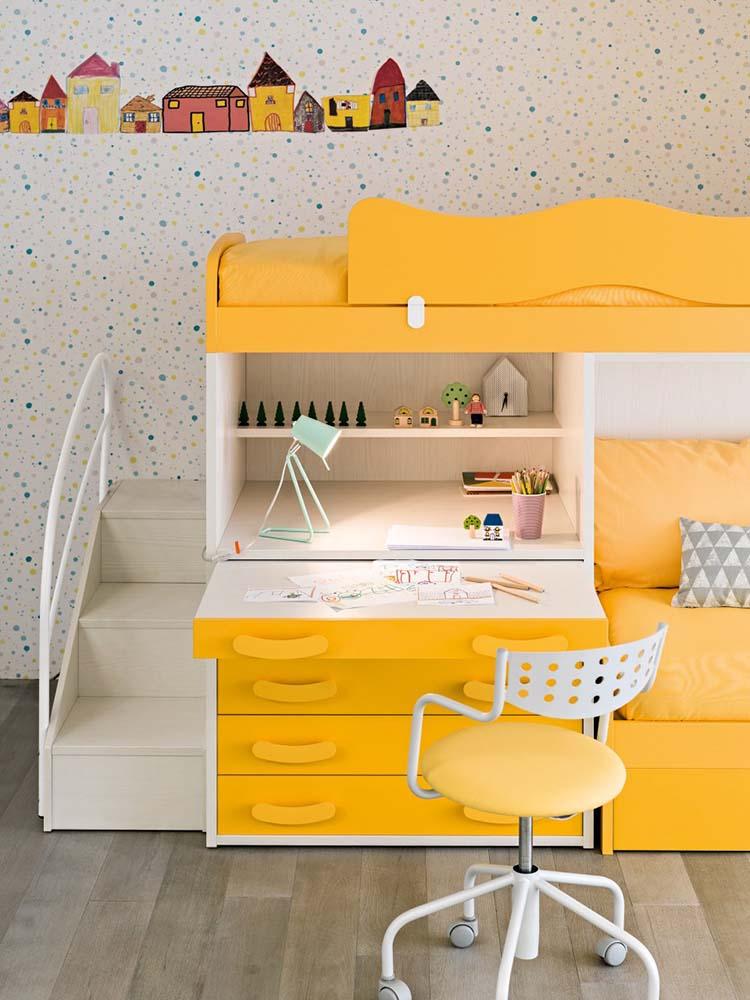 Παιδικά έπιπλα κίτρινο χρώμα