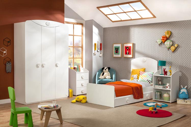 Μοντερνο βρεφικο δωματιο-κουνια-κρεβατι λευκα επιπλα