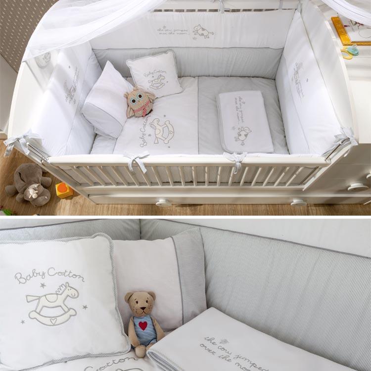 Μοντερνο βρεφικο δωμτιο-κουνια για μωρα λευκη προικα
