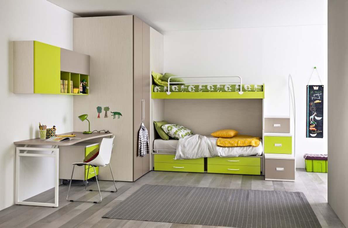 Παιδικα επιπλα. Πράσινο χρώμα για παιδικό δωμάτιο