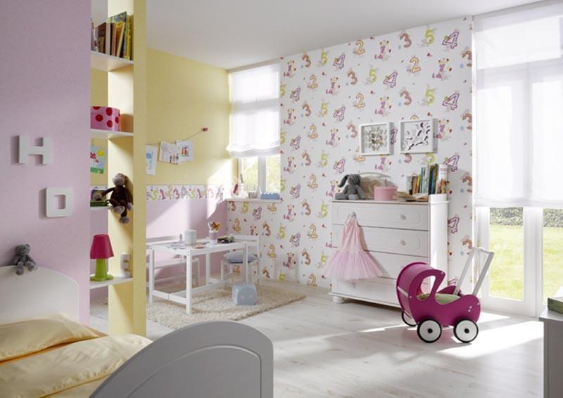 Παιδικές ταπετσαρίες ροζ αποχρώσεις