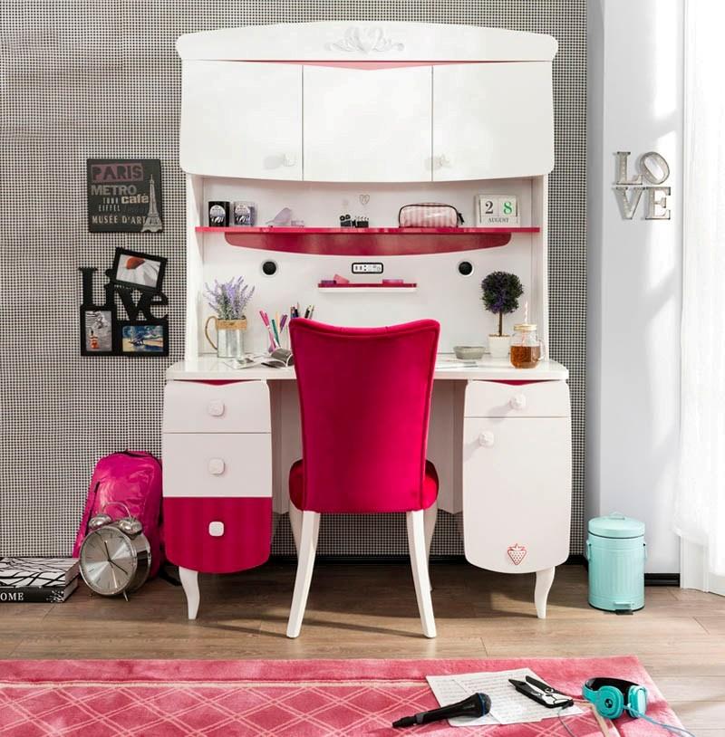 3752e967280 Παιδικό-Εφηβικό γραφείο για κορίτσια της σειράς RUBY, σύγχρονο για να  καλύπτει όλες τις ανάγκες μιας έφηβης. με μεγάλο και άνετο χώρο, σε  διαστάσεις 1,24μ Χ ...