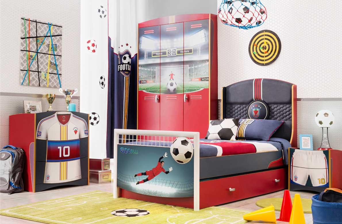 Παιδικο δωματιο με θεμα το ποδοσφαιρο