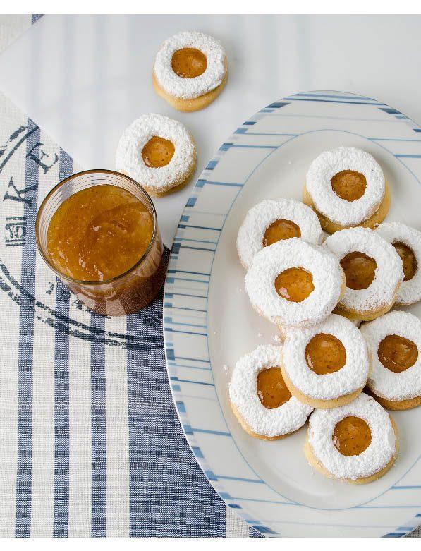 Μπισκότα σαμπλέ με βερίκοκο