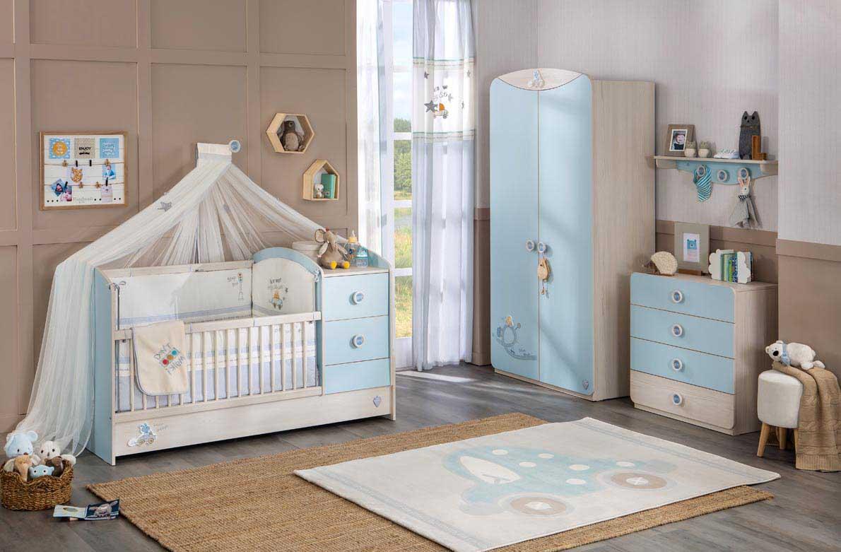 Βρεφικό δωμάτιο: γαλάζιο