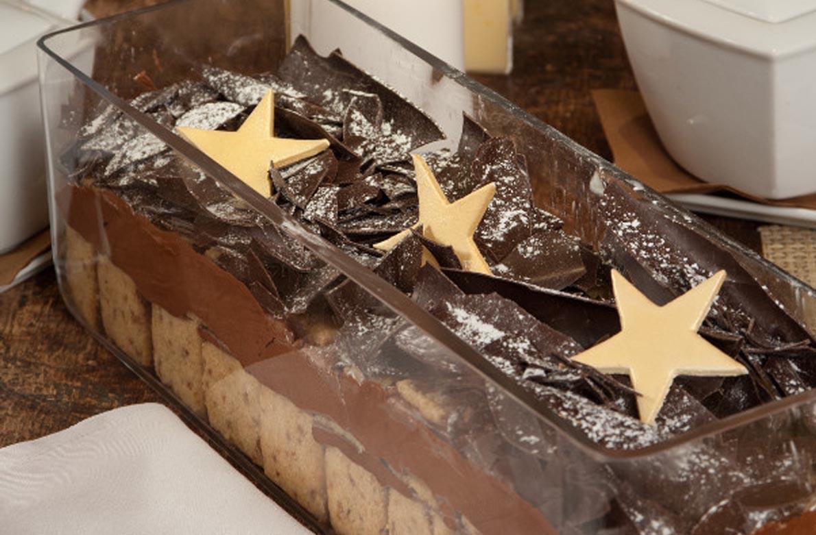 Μους σοκολάτα με μπισκότα